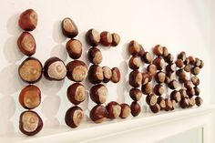 chestnuts LETTERS CRAFTS