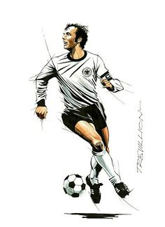 Top spot: Franz Beckenbauer is the only man to win the World Cup as a player, captain and manager Football Icon, Football Art, World Football, Fifa, Soccer Photography, Soccer Art, International Football, Football Pictures, Sports Stars