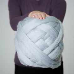 Silver blue color for chunky yarn! Check it!