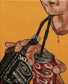 Resultado de imagen para jack and coke pop art Arte Dope, Dope Art, Art Sketches, Art Drawings, Retro Aesthetic, Art Inspo, Art Reference, Street Art, Street Style
