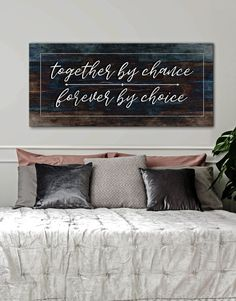 Couples Wall Art: Together by Chance Forever by Choice (Wood Frame Ready To Hang) - Home Decor diy - Bedding Master Bedroom Cute Dorm Rooms, Cool Rooms, Farmhouse Side Table, Farmhouse Decor, Modern Farmhouse, My Living Room, My New Room, Living Room Designs, Diy Home Decor