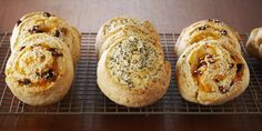 Savoury Spiral Scones. This recipe comes with two options for filling: bacon, sundried tomato and cheddar, or garlic cream cheese and dill.