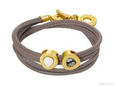 Sence vienna bracelet taupe leather & worn gold
