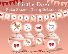 Deer themed baby girl baby shower - Elle Lou