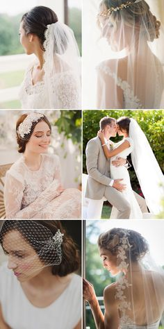 26 Bridal Hairstyles that Look Good with Veils! - Low chignon