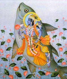Matsya - 1st avatar of Vishnu, the fish