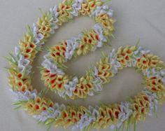 Hawaiian dahlia ribbon lei -    Edit Listing  - Etsy