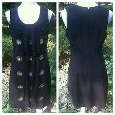 NWT $440 TRACY REESE Designer BEADED Black Shift LBD Dress PARTY HOLIDAY NYE 6