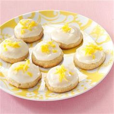 Iced Honey Lemon Cookies Recipe -Grated lemon peel in the batter and on the icing of these soft cake-like cookies gives them their fresh citrus flavor. The recipe makes about three dozen of the tender treats. —Betty Thompson, La Porte, Texas