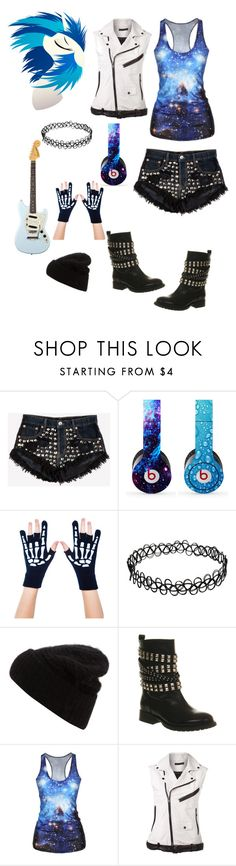"""Goth Vinyl Scratch"" by pegacece ❤ liked on Polyvore featuring Runwaydreamz, Beats by Dr. Dre, Too Fast, Acne Studios, Office and BLK DNM"