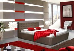 Postel V - 180x200 cm (madryt 195) Jena, Cama Design, Bedroom, Furniture, Home Decor, Decoration Home, Room Decor, Bedrooms, Home Furnishings