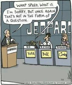 Why Yoda lost at Jeopardy