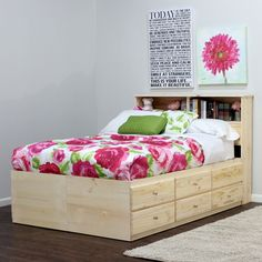 king storage bed 12 drawers - Queen Bed Frame With Drawers Underneath