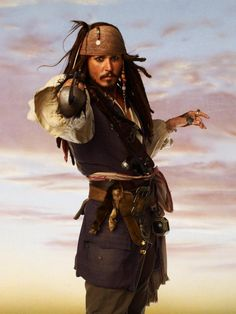 Captain Jack Sparrow (Johnny Depp) - Pirates Of The Caribbean Caribbean Jacks, Pirates Of The Caribbean, Captain Jack Sparrow, Jake Sparrow, Jonny Deep, Here's Johnny, Pirate Life, Film Serie, Movie Stars