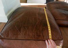 fix flattened down leather sofa cushions diy pinterest sofa
