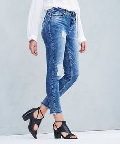 Look what I found on #zulily! Lyssa Distressed High-Waist Ankle Skinny Jeans  - Women #zulilyfinds