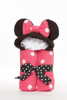 Personalized Girl Minnie Mouse Hooded Towel Etsy. Cute