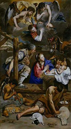 Juan Bautista Maino.Adoración de los pastores. 1612-14