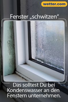 "What to do if windows ""sweat""?- Was tun, wenn Fenster ""schwitzen""? What to do if windows ""sweat""? In cold weather, condensation often forms on the windows, which favors mold growth. This is how you remedy the situation! Yarn Friendship Bracelets, Exfoliating Body Scrub, Star Photography, Work From Home Jobs, Winter Garden, Better Life, Clean House, Good To Know, Cleaning Hacks"