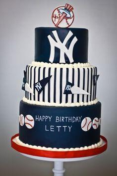 Yankees birthday cake perfect!