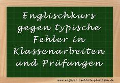 #Englischkurs gegen typische Fehler in #Klassenarbeiten und Englisch #Prüfungen