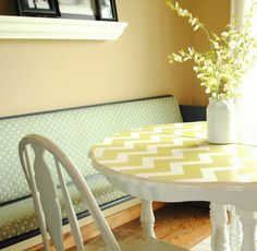 Click Pic for 50 DIY Home Decor Ideas on a Budget - Turn your Table Chevron - DIY Crafts for the Home