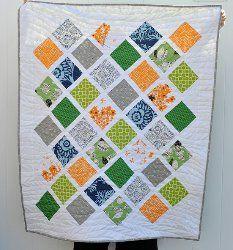 Color Pop Lattice Baby Quilt | FaveQuilts.com