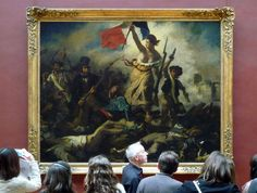 Delacroix, Liberty Leading the People with Viewers by profzucker, via Flickr