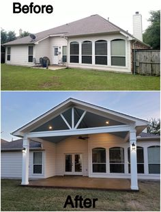 Covered Back Porches, Backyard Covered Patios, Covered Patio Design, Backyard Patio Designs, Covered Patio Plans, Outdoor Rooms, Outdoor Living, Outdoor Decor, Patio Extension Ideas