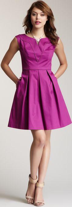 Jessica Simpson V-Neck Dress ♥✤ | Keep the Glamour | BeStayBeautiful