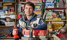 Nikolai Wolfert, who started the Leila 'borrowing shop' in Berlin, says drills are among the most popular items. Photograph: Christian Junge...