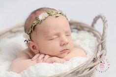 Kwiatku fotografia noworodkowa trójmiasto, dziewczynka, zdjęcie noworodka, newborn, maleństwo śpi, zdjęcie dziecka w koszyku, niemowle w koszyczku,