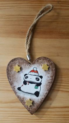 Addobbo natalizio Tarepanda di IsolaSospesa su Etsy