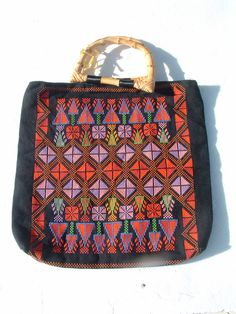 INSOLITE  bedoune bag embroidery hand made in Israel by lonibrands, $35.00