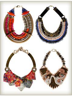 More Design Please - MoreDesignPlease - Fabric Necklaces : Finds &DIY