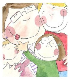 madre in argentina Love Is Sweet, Baby Love, 4th Grade Art, Hugs, We Are Family, Portrait Illustration, Happy People, Cute Cartoon, Cute Drawings