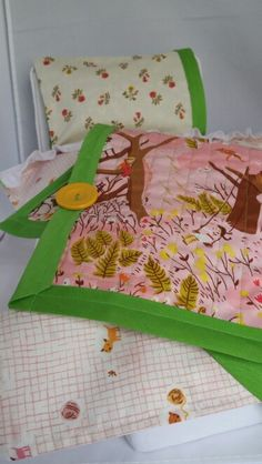 heather ross, far far away dolly bedding set | waldorf doll
