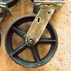 8u2033 Swiveling Caster. Antique Coffee TablesVintage Industrial FurnitureINDUSTRIAL  ...