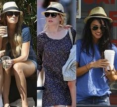Panama and Fedora Hats.  Adding a trendy hat does NOT equal success.