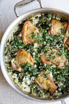 Ranch Chicken Thighs with Rice  - Delish.com