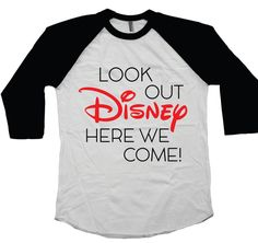 Planning a family trip to Disney Land or Disney World? This 3/4 sleeve raglan t-shirt is super soft and high quality. Unisex fit. Sample Sale - Brand new! Save big! Adult Size: XX Large