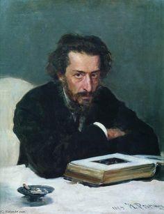 Portrait of Composer Pavel Blaramberg,   Ilya Repin