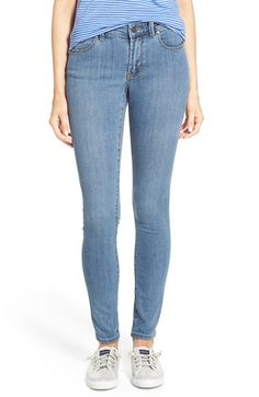 Halogen® Plain Pocket Stretch Skinny Jeans (Regular & Petite) available at #Nordstrom