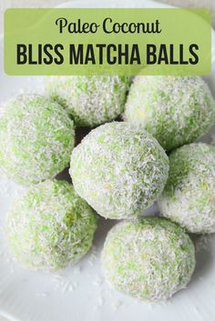 Five ingredients, ten minutes, complete satisfaction! These gluten-free matcha coconut bliss balls are quick, simple, and packed full of goodness for your mind and body. http://epicmatcha.com/paleo-coconut-bliss-matcha-balls/?utm_source=pinterest&utm_medium=pin&utm_campaign=social-organic&utm_term=pinterest-followers&utm_content=blog-paleo-coconut-bliss-matcha-balls