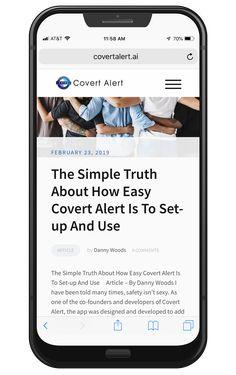Covert Alert Covertalertapp Profile Pinterest