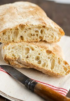 Ciabatta, No Salt Recipes, Bread Recipes, Banana French Toast, Party Finger Foods, Pan Dulce, Pan Bread, Bread And Pastries, Healthy Desserts