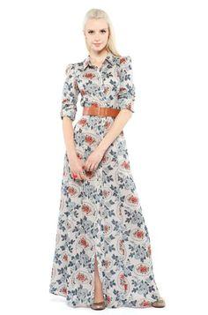 Básico Para qum gosta de um estilo básico e muito feminino, a inspiração é este vestido de algodão, com um caimento semelhante ao chambray, com acessórios discretos. Com botões na frente, estampa …