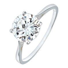 Pour ronde bijoux bague fashion Circle Sterling Clair Femmes 925 doigt Forever Zircone Cubique