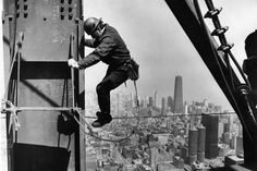 An ironworker works on the Sears Tower, Chicago, in 1973.