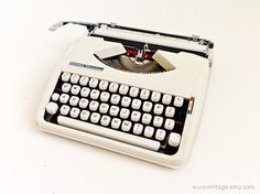 Vintage Hermes Baby Portable Typewriter 1960s by EuroVintage, €245.00